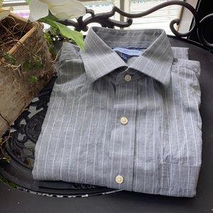 TOMMY HILFIGER, 100% Cotton - size 15.5, 34/35, M